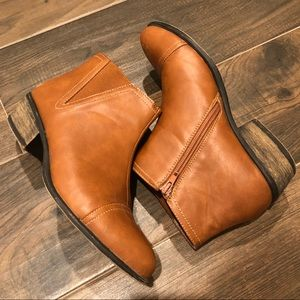 Camel ankle booties